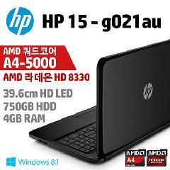 HP 39.6cm ��Ʈ�� HP-15-G021AU [AMD �����ھ� A4-5000 / 4GB DDR3 / 750GB / AMD Radeon HD 8330G Graphics / Windows 8.1 / 2.23kg]